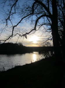 Sunset over River Ribble