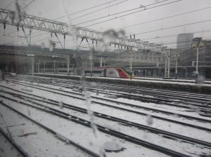 Euston in the snow