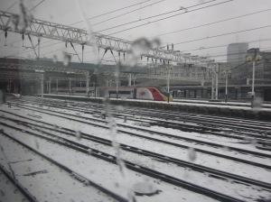 Euston in the snow