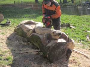 Mick Burns Chainsaw Sculptor