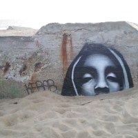 Graffiti on World War Two Bunkers at Labenne Ocean