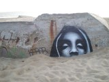 Graffiti on World War Two Bunkers at LabenneOcean