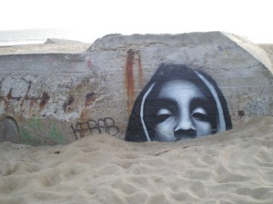 Graffiti on Labenne bunker