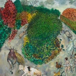 Simon Plum Carousel (Oil on Canvas) 2007