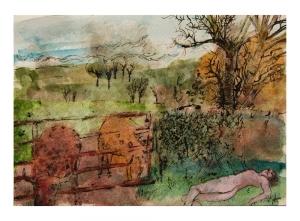 Simon Plum Narcolepsy (Watercolour) 2006