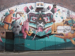 Mural by Oxford Rd Station Manchester