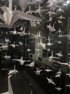 Origami bird Manchester Museum