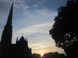 Sunset over St Walburges