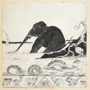 Autograph printer's copy of 'The Elephant's Child', Just So Stories. Illustrations by Rudyard Kipling (c) British Library Board