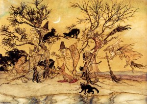 The Witches Sabbath by Arthur Rackham