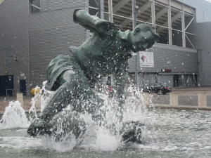 The Splash, located outside of Preston North End's Deepdale stadium