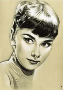 Audrey Hepburn by Linda Massey