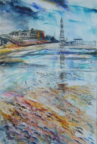 Blackpool Foreshore by Pam Potter