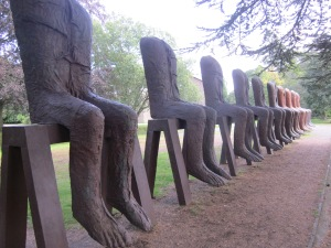 Magdalena Abakanowicz Ten Seated Figures 2010 Cast Iron